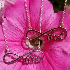 Jewelry - 14kt. Rose Gold Infinity Love Necklace